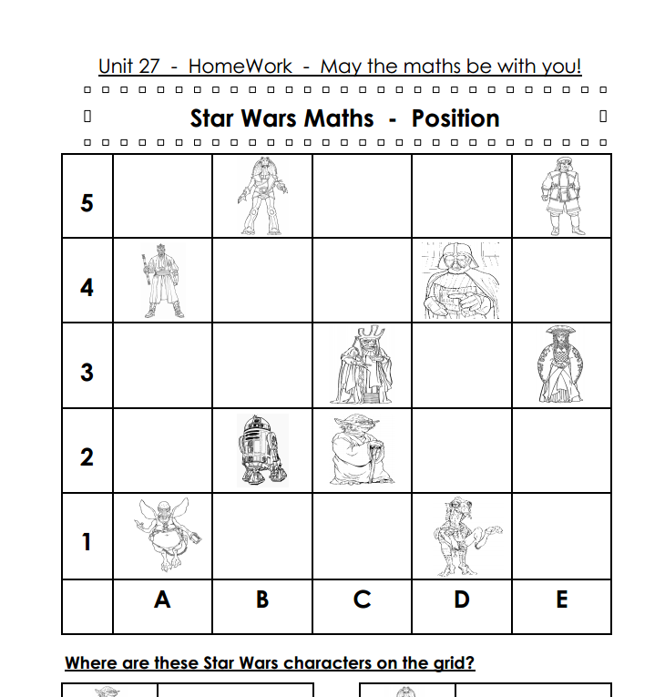 Star Wars Maths Shed The Mathematics Shed – Star Wars Math Worksheets